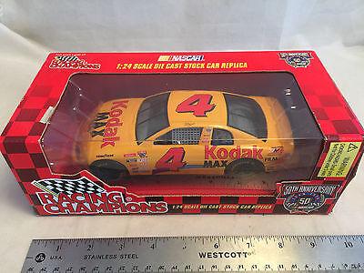 1998 Racing Champions 1:24 Gold NASCAR Bobby Hamilton Kodak Gold Film Chevy #4 a