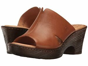 1aa911e4e802 Women s Born Comfy Slide Sandal Crato Luggage Tan Leather F22906