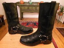 Vtg FRYE Men's Black Leather 12R Harness, Biker, Urban Hipster Boots 8M  USA!