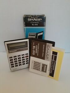 SHARP EL-313 Elsi Mate Calculator Metric Converter With Manual Case Original Box