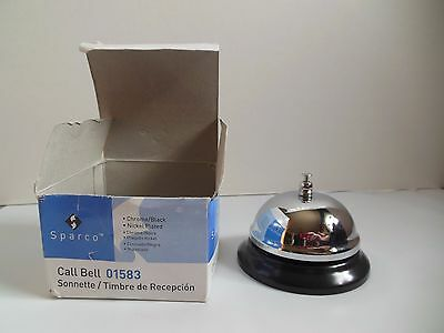 Call Bell SPARCO #01583 Chrome & Black Nickel Plated Hotel Reception Work NEW