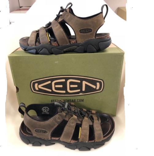723e223df409 KEEN Daytona Sandal Leather Mens Sports Sandals Black Olive 8 M for ...