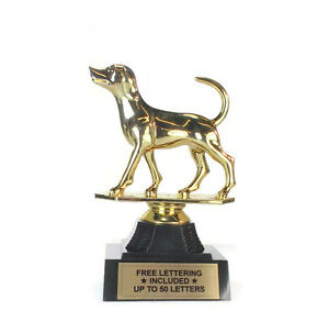 Hound Trophy- Foxhound- Dog- Hunting- Animal- Desktop Series- Free Lettering