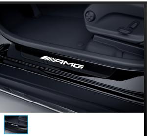 Mercedes-AMG-Original-Seuils-de-Porte-2-Pieces-Noir-Blanc-W-S-205-Classe-C-Neu