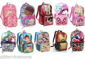 KIDS GIRLS BOYS BACKPACK SCHOOL BAG SHOULDER BAG-DISNEY CHARACTERS ...