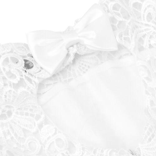 Kid Flower Girls Party Princess Lace Dress Wedding Bridesmaid Heart Back Dresses
