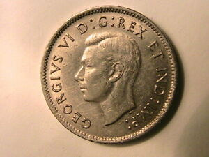 1941-Canada-Five-Cent-Ch-AU-Lustrous-George-VI-Canadian-WWII-Nickel-5-Cent-Coin