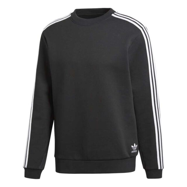 adidas Men Originals Curated Crewneck Sweatshirts Black Cw5065 for ... e4b071e4d