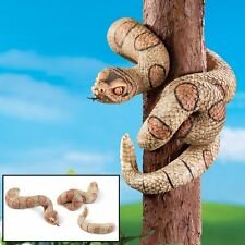 Faux Hand-Painted Tree Snake Outdoor Garden Tree Hugger Statue