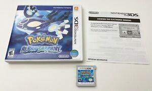 Pokemon-Alpha-Sapphire-3DS-2014-w-Case-amp-Insert-Tested-amp-Works-FREE-SHIPPING
