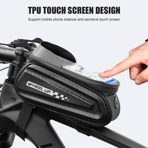 Tubo-de-Manillar-de-Bici-Bicicleta-tubo-superior-delantera-Telefono-con-pantalla-tactil-bolsa-bolsa