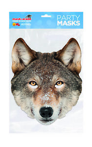 ** WOLF ANIMAL PARTY MASK FANCY DRESS NEW ** LADIES MENS CHILDRENS BROWN