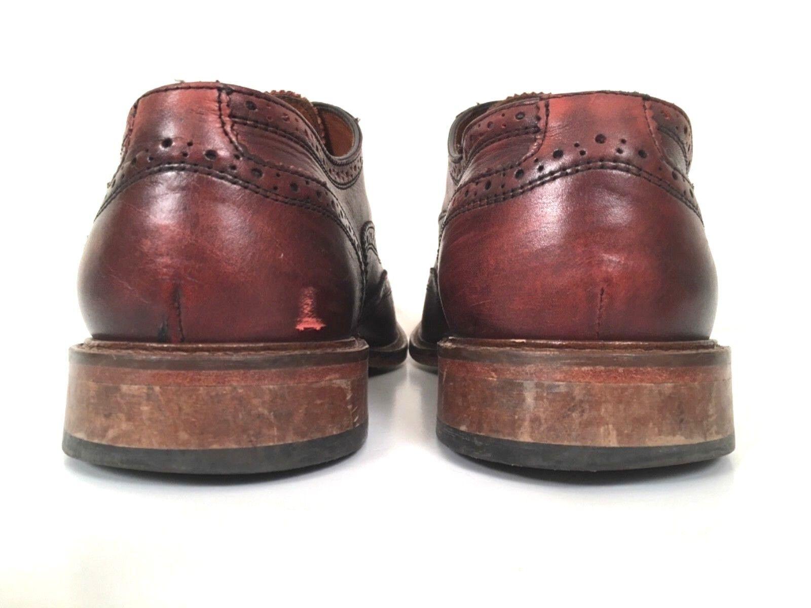 Mercanti Fiorentini Fiorentini Fiorentini Cuoio Burgundy rosso Leather Wingtip - Oxford Men's 10 M scarpe 6e378e