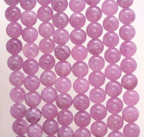 80007352-A256 8MM Lavender Jade Gemstone Grd AAA Round 15 Inch
