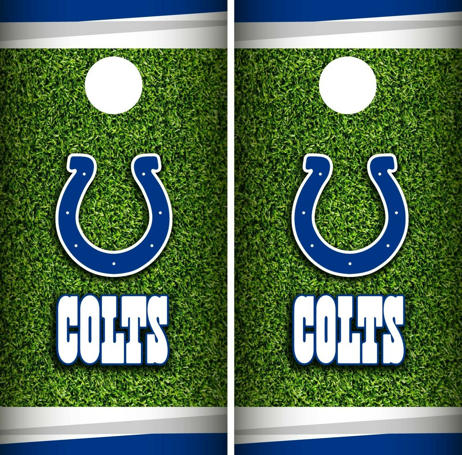 Indianapolis Colts Field Cornhole Wrap NFL Game Skin Board Set Vinyl Art CO123
