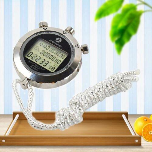 Metal Digital Timer  Waterproof Stopwatch  Counter Antimagnetic Chronograph