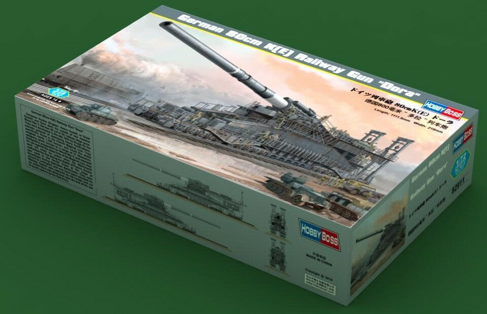 Hobbyboss 1 72 82911 German 80cm Railway Gun  Dora