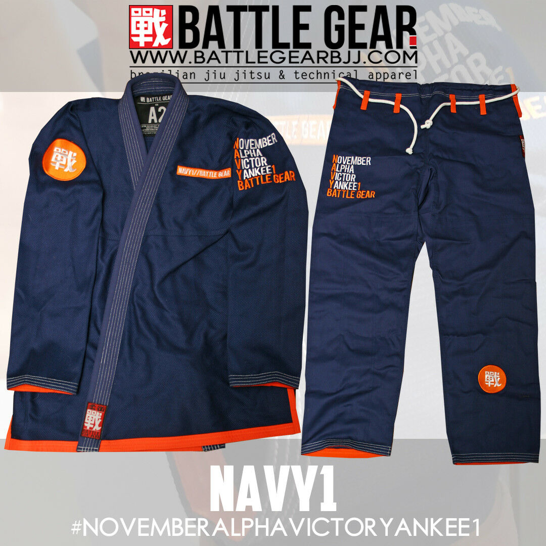 NAVY1 Special Edition Kimono   Gi BJJ Jiu jitsu Navy blueee by Battle Gear