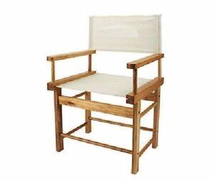 Image Is Loading Vintage Design Canvas Seat Amp Back Panel Wooden