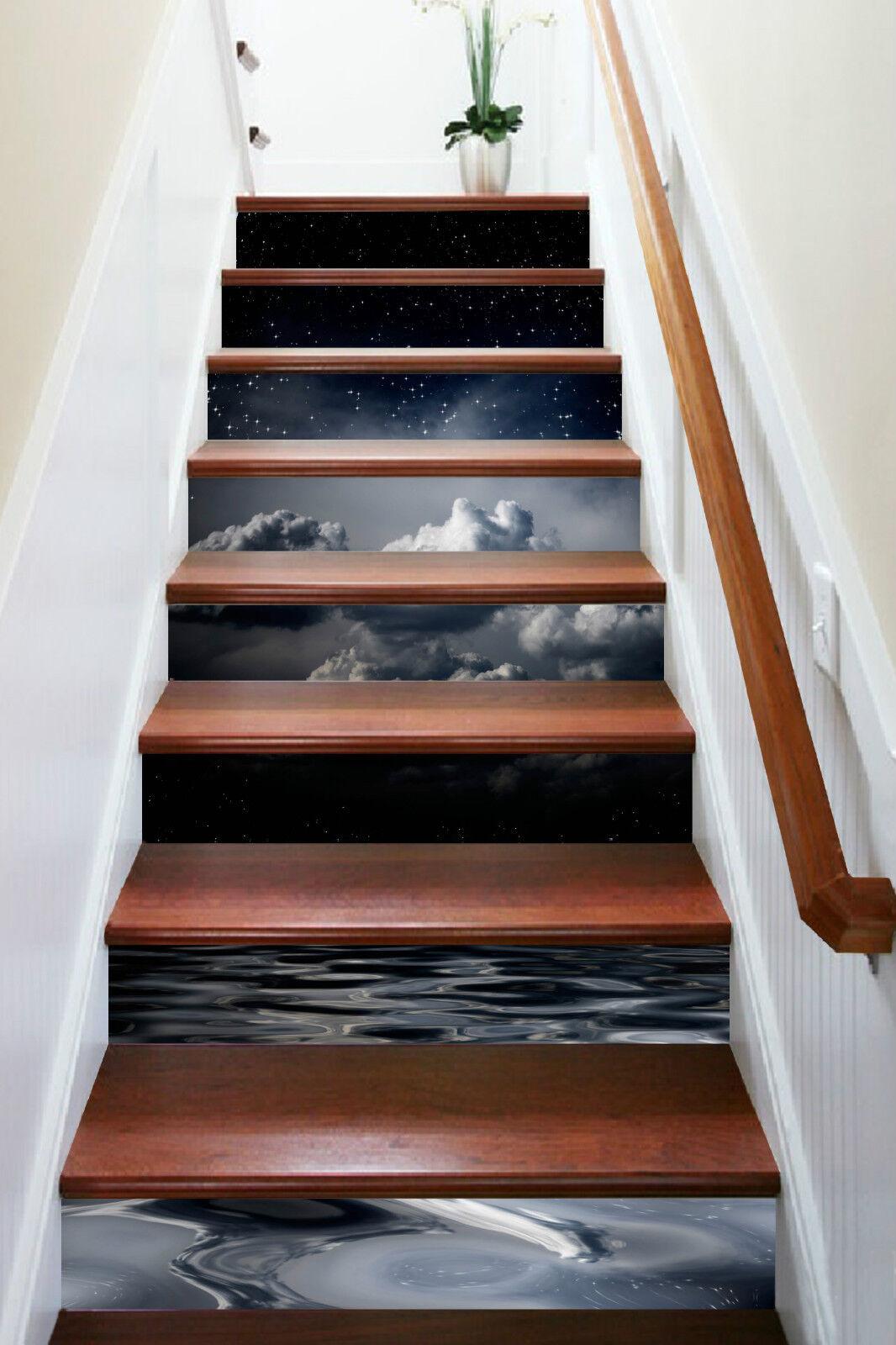 3D Stern Ansicht 14 Stair Risers Dekoration Fototapete Vinyl Aufkleber Tapete DE