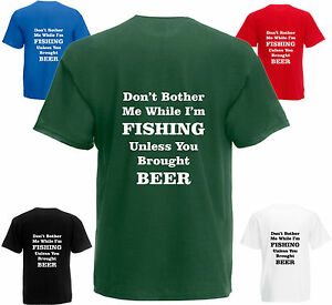 Don-039-t-Bother-Me-I-039-m-Fishing-T-Shirt-Funny-Birthday-Gift-Mens-Womens-Top-Present