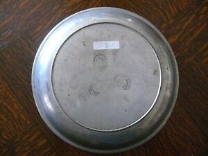 rarität ca. 200 Jahre alter  Zinn Teller Suppenteller sog. Katzenteller 2