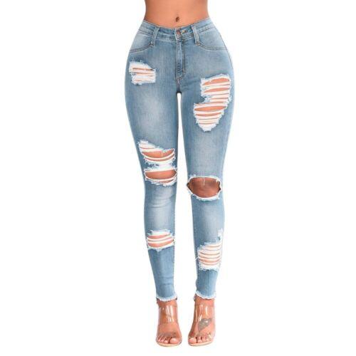 Pantalones Jeans De Tiro Alto Para Mujer Cintura Alta Levanta Cola Vaqueros