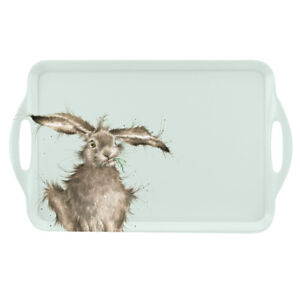 Wrendale-Hare-Large-Tray-Serving-Dinner-Lap-Tray-Blue-Cute-Animals-Portmeirion