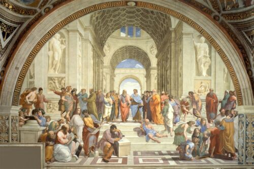 """Mothers Day $ALE The School of Athens by Raphael Extra Large Canvas 50/""""x32/"""""""