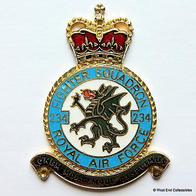 RAF 234 Squadron DANBURY MINT Blank Badge -24ct Gold Plate 1970s Royal Air Force