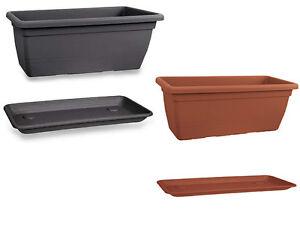Stock 5 pz fioriera cassetta plastica 100 cm giardino for Vendita vasi plastica
