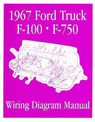 1967 FORD F100-F750 TRUCK WIRING MANUAL   eBay ford turn signal switch wiring diagram eBay