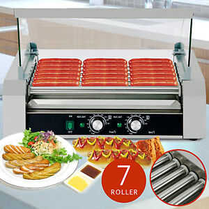 roller commercial 18 hotdog hot dog 7 roller grill cooker. Black Bedroom Furniture Sets. Home Design Ideas