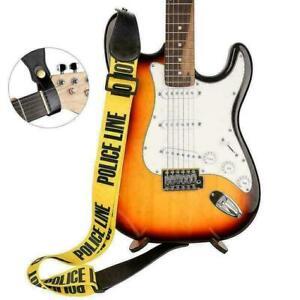 Einstellbarer-Polyester-Gitarrengurt-mit-PU-Lederenden-fuer-E-Bass-Usef-L8W4-L9L7
