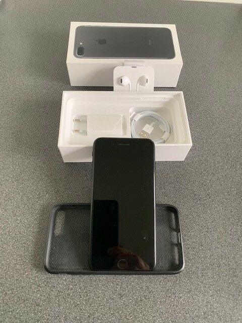 iPhone 7 Plus, 256 GB, sort