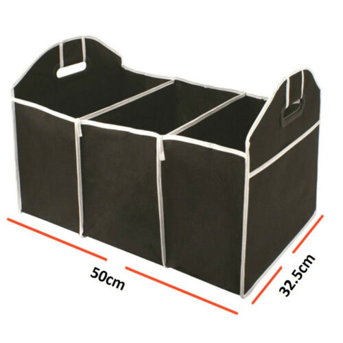 2-in-1 Car Boot Organiser Tidy Heavy Duty Collapsible Foldable Storage UKED