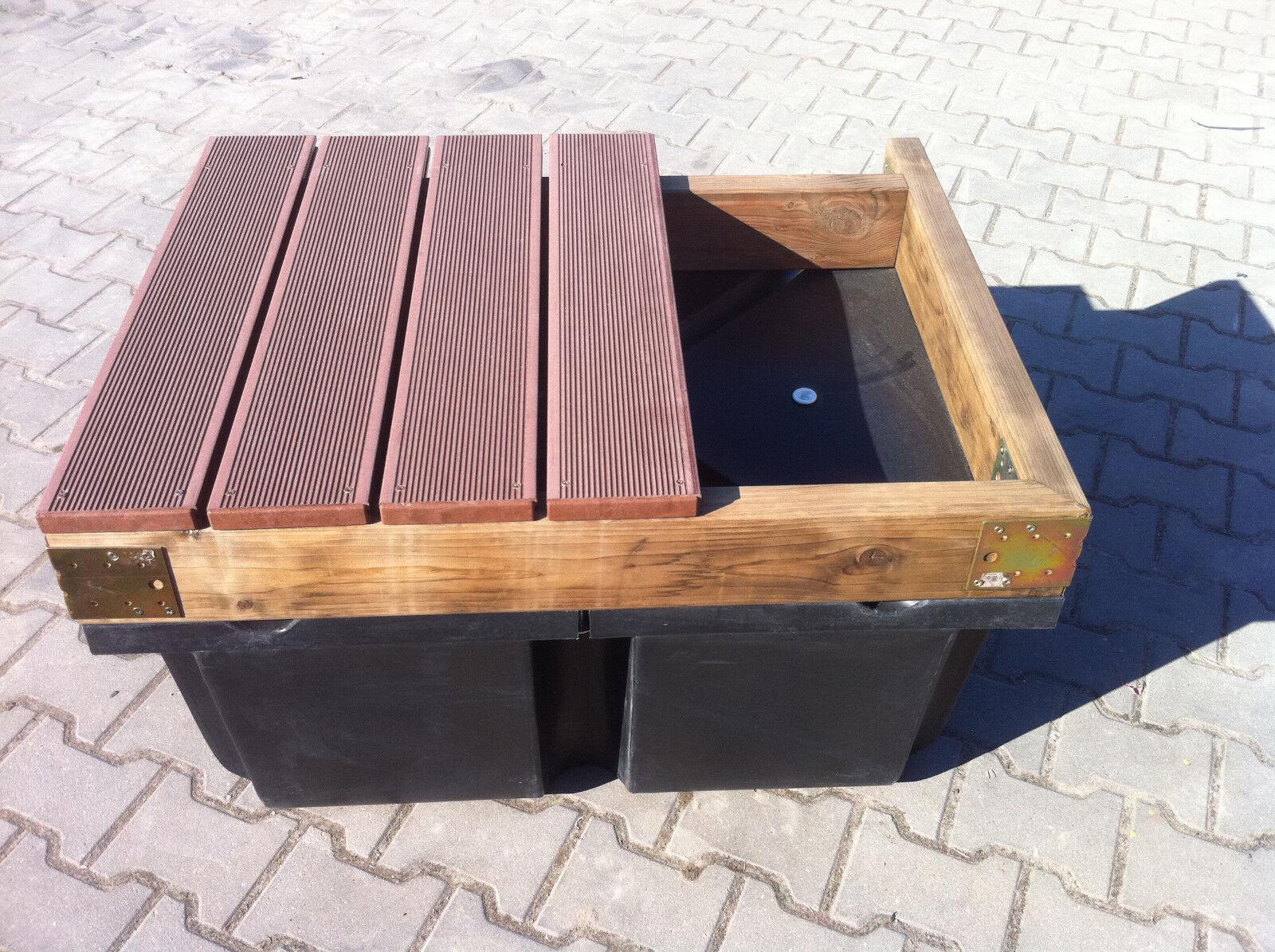 Ponton, Schwimmkörper, Schwimmplattform, 100x50x42 cm, 15 Kg, Verdrängung 200 Kg Kg 200 89956e