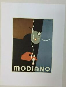 Modiano Art Work Poster 9 5 X12 5 Reprint Print Ebay