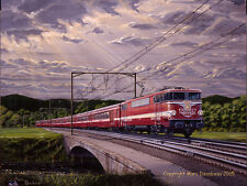 """""""Le Capitole""""  Original Painting of the SNCF & MARKLIN French Train.  Fantastic!"""