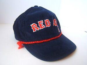 Vintage Boston Red Sox MLB Hat Blue Corduroy Rope Snapback Baseball ... 6afe1420505