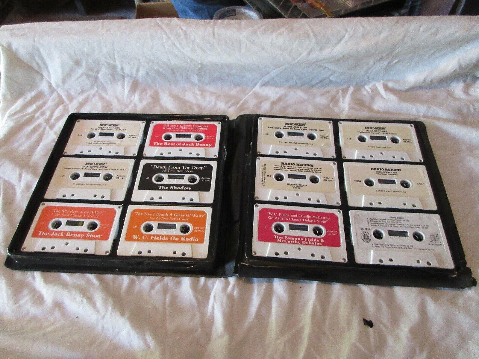 Radio Reruns on Cassette, Vintage Entertainment Memorab
