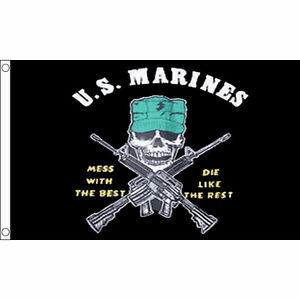 US-Marines-Mess-With-The-Best-Flag-Large-5-x-3-FT-USA-Skull