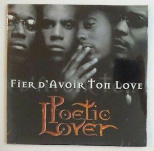 POETIC-LOVER-FIER-D-039-AVOIR-TON-LOVE-EDIT-RADIO-CD-Single-NEUF-NEW