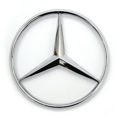 Mercedes W201,190E,W124 300//400//500 E,D,C REAR plastic chrome GENUINE MBZ 1 Star