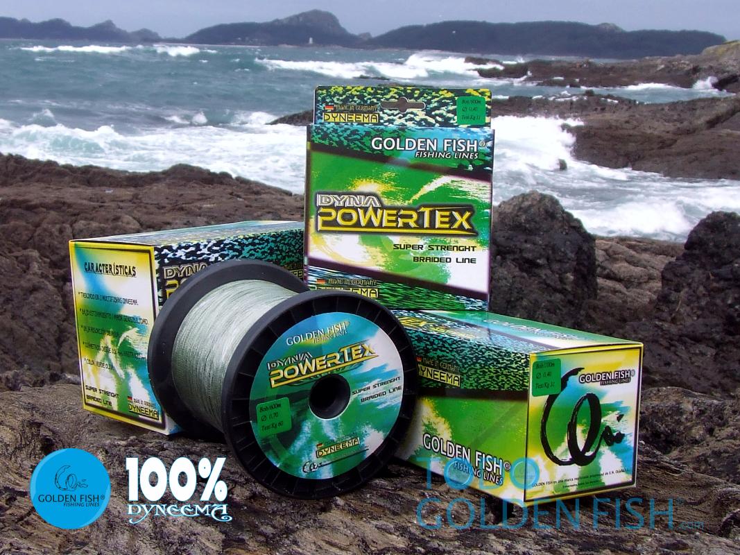 orEN FISH DYNAPOWERTEX 1000 metros 0,16 mm. DYNEEMA 100% braided line OFERTA