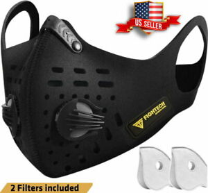 Air Purifying Masks with 2 Filter Cycling Mouth Face Cover...