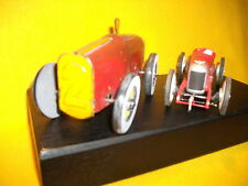 Vtg tin toy classic car old and New motor wire wheel and classic wind up buggati