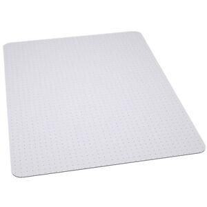 office chair mat carpet protector 36 39 39 x 48 39 39 clear vinyl chairmat ebay. Black Bedroom Furniture Sets. Home Design Ideas