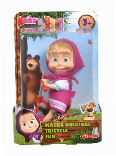 Mascha Puppe mit original Dreirad Simba 109302059 Mascha und der Bär