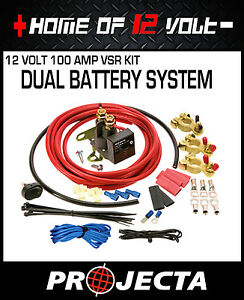 Projecta-Voltage-sensitive-relay-FULL-KIT-100Amp-VSR100K-DUAL-BATTERY-SYSTEM